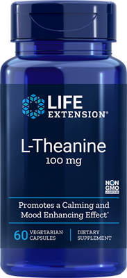 LIFE Extension  L-Theanine 100 mg , 60 Vegetarian Capsules