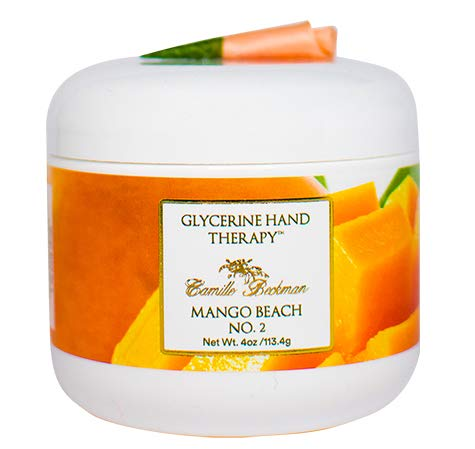 Camille Beckman Glycerine Hand Therapy Cream, Mango Beach No. 2, 4 Ounce