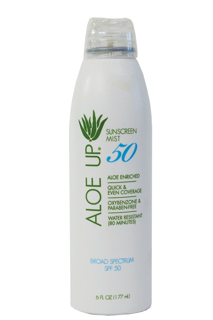 Aloe Up Sun & Skin Care Products White Collection SPF 50 Continuous Spray Sunscreen