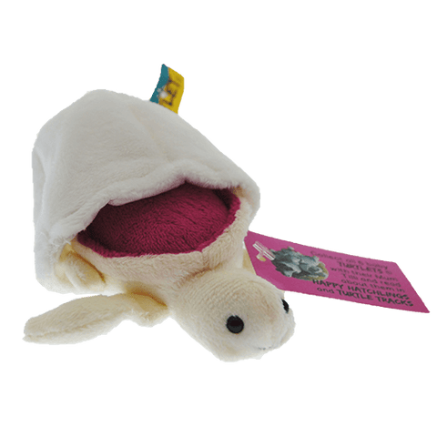 Star – Pink Turtle Hatchling Plush Toy With Attached Soft Egg Shell