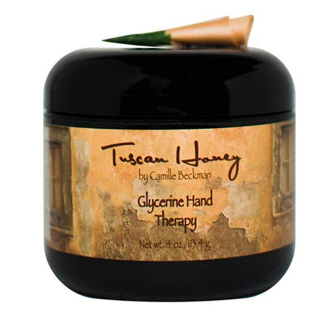 Camille Beckman Glycerine Hand Therapy Cream, Tuscan Honey, 4 Ounce
