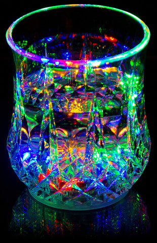 Liquid Activated Multicolor Blinking Glass 7oz