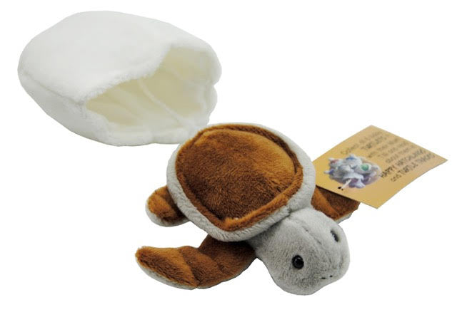 Bump – Brown Turtle Hatchling Plush Toy With Attached Soft Egg Shell