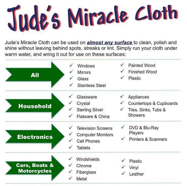 Jude's Miracle Cloth - 1 Pack  - White