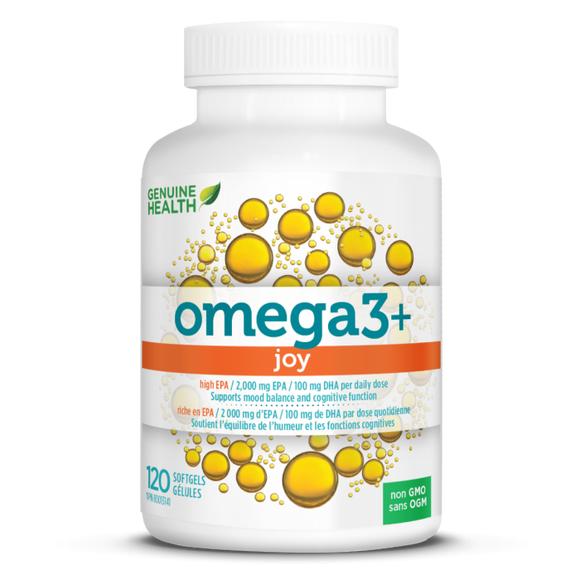 Genuine Health Fish Oil omega3+ JOY 120 softgels