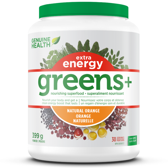 greens+ extra energy natural orange 399g