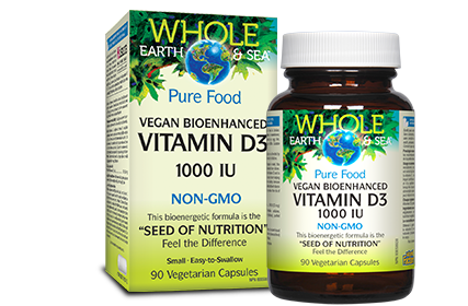 Vegan Bioenhanced Vitamin D3 1000 IU, Whole Earth & Sea®