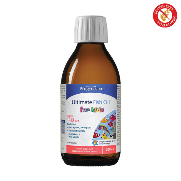 Progressive Ultimate Fish Oil for Kids 200ml Orange