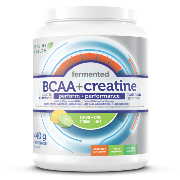 Genuine Health Fermented BCAA+ Creatine lemon-lime 440g