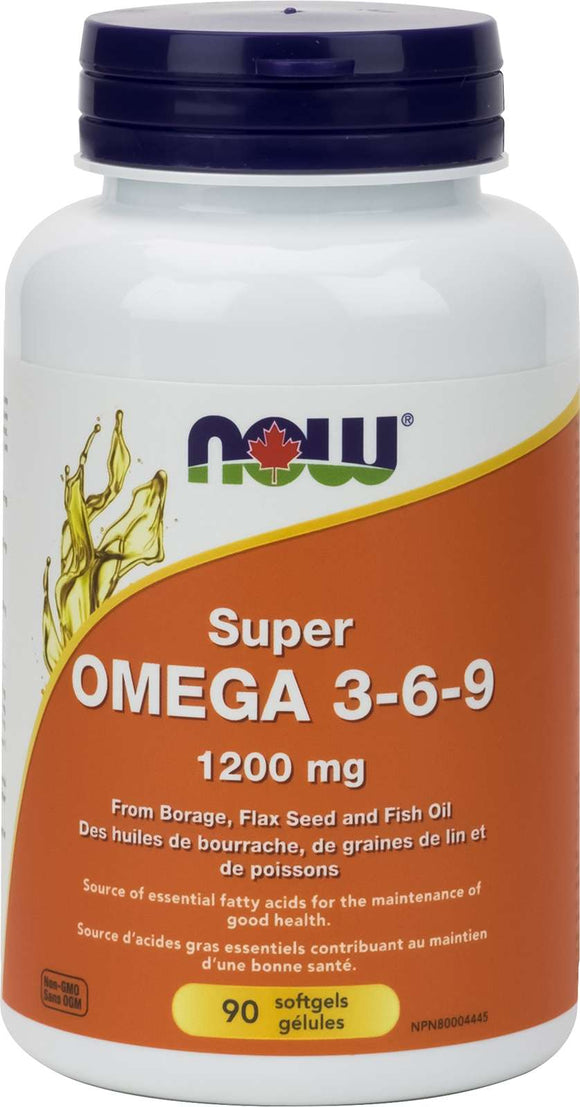 Omega 3-6-9  1200mg (Borage/Flax/Fish)   90gel