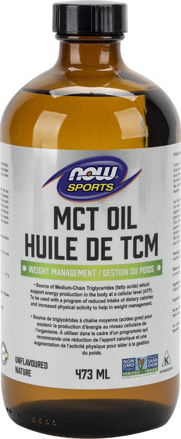 MCT Oil 100% pure (glass) 473mL