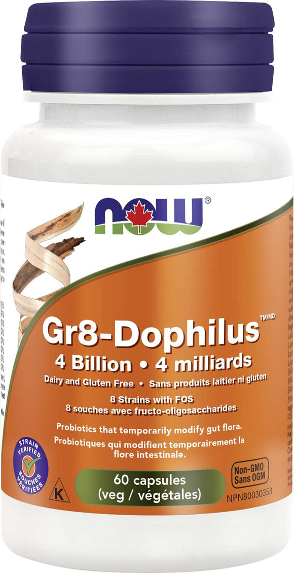 Gr8-Dophilus, 4 Bill, 8 strains 60vcap (DF)