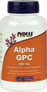 Alpha GPC (Bioavailable Choline) 300mg 60vcap