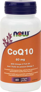CoQ10 60mg w/Lecithin Fish Oil  60gel