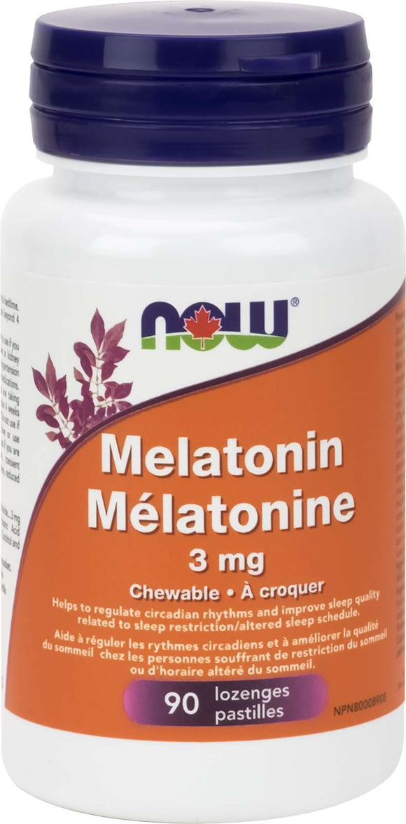 Melatonin 3mg+ B-6 Peppermint Chew   90chew