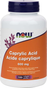 Caprylic Acid 600mg 100gel