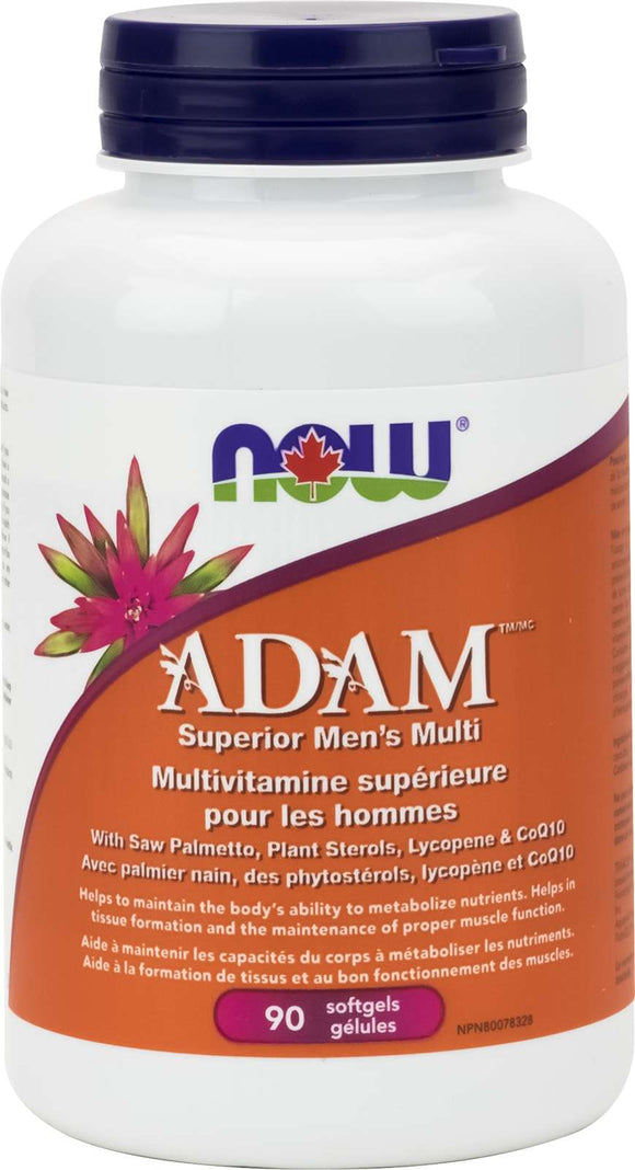 ADAM Superior Men's Multi 2/day (iron free) 90gel