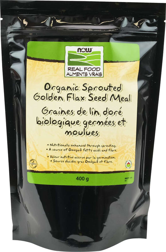 Organic Sprouted Golden Flax Seed Meal 400g