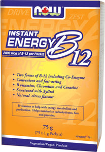 B12 Instant Energy Packets (2,000mcg B12) 75/Box