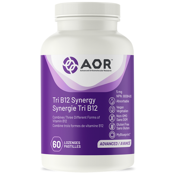 AOR Tri B12 Synergy 5mg 60's