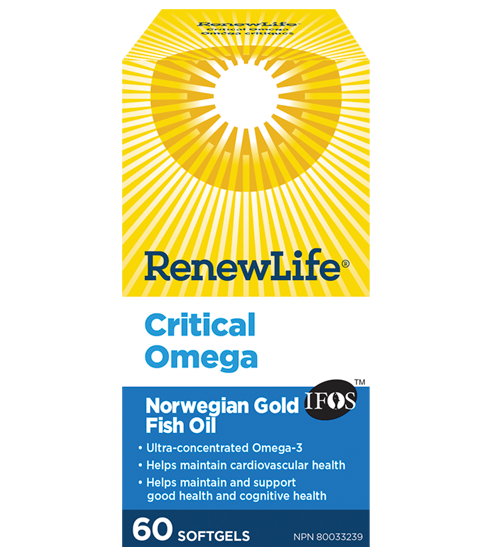 RenewLife Norwegian Gold Critical Omega Fish Oil 60's