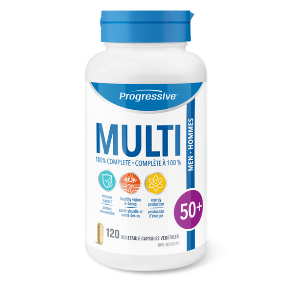 Progressive Multivitamin Men 50+ 120's