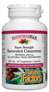 ResveratrolRich® Super Strength Resveratrol Concentrate 500 mg 60's