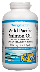 Wild Pacific Salmon Oil 1000 mg, OmegaFactors®