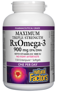 RxOmega-3 with Vitamin D3 Maximum Triple Strength 900 mg