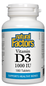 Natural Factors Vitamin D3 1000 IU 360's