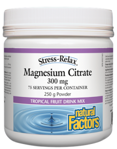 Magnesium Citrate 300 mg, Tropical Fruit Flavour, Stress-Relax® 250g