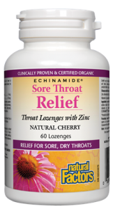 Sore Throat Relief, Natural Cherry ECHINAMIDE®