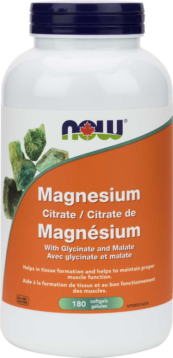 Magnesium Citrate/Glycinate/Malate 134mg 180gel