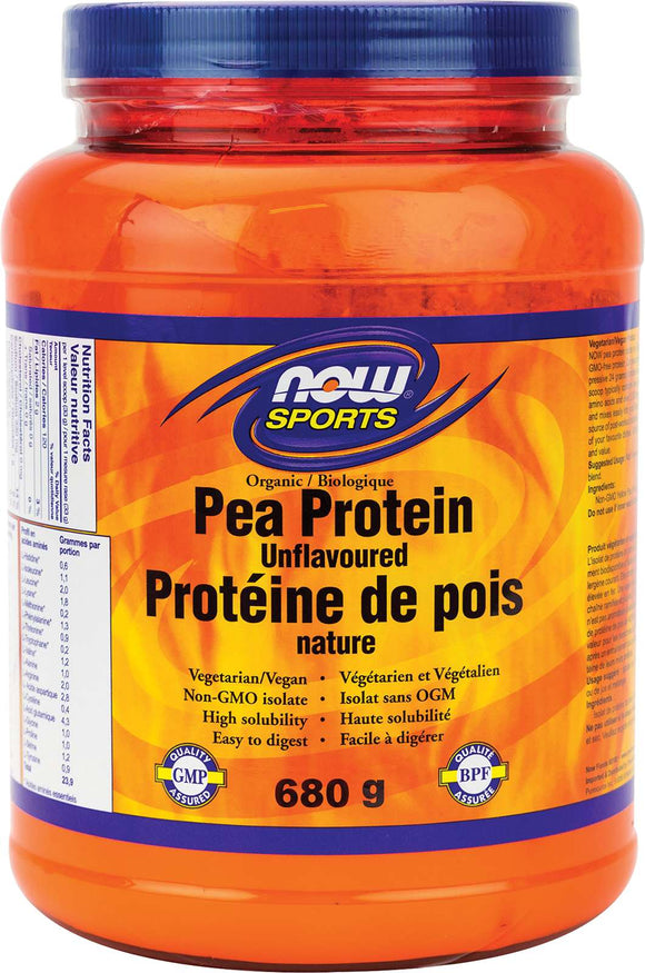 Organic Pea Protein, Unflavoured 680g