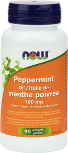 Peppermint Oil 180mg Ent.Coat w/ Fennel, Ginger 90gel