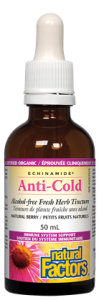 Anti-Cold Alcohol-Free Herb Tincture, Natural Berry ECHINAMIDE®