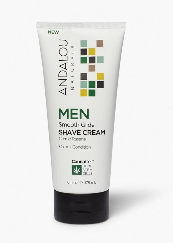 Andalou Natural Men's Shave Cream with CannaCell
