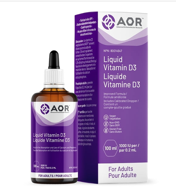 AOR Vitamin D3 liquid Vegan 100ml (Adult)