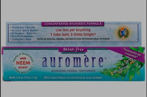 Auromere Ayurvedic Mint Free Herbal Toothpaste