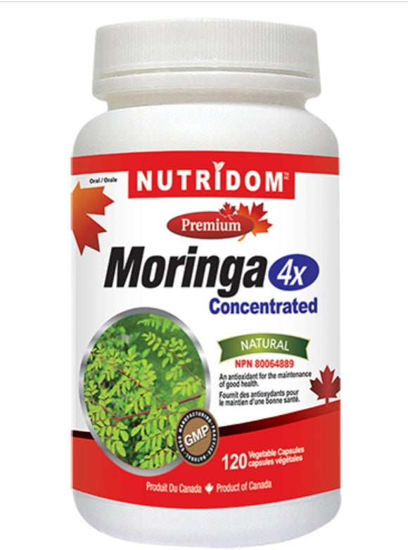 Nutridom Moringa 4x Concentrated 120's