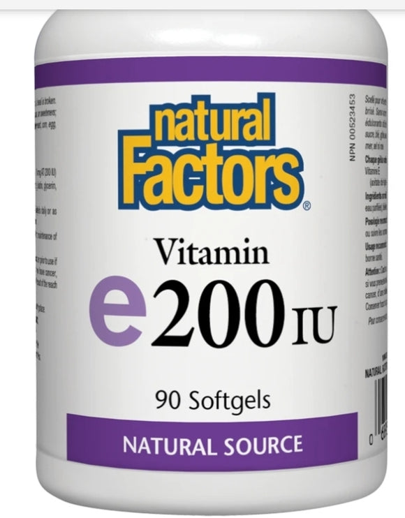 Natural Factors Vitamin E 200 IU  90's