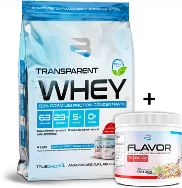 Believe Transparent Whey Protein Concentrate UnFlavored 2lbs