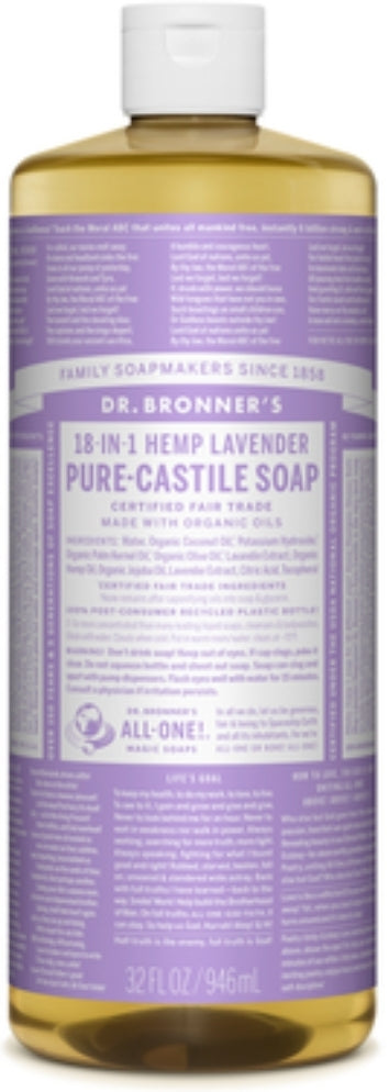 Dr. Bronner Pure Castille Soap All in One Liquid and Bars
