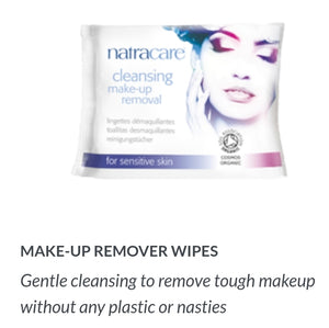 Natracare Organic Makeup Remover Wipes 20ct
