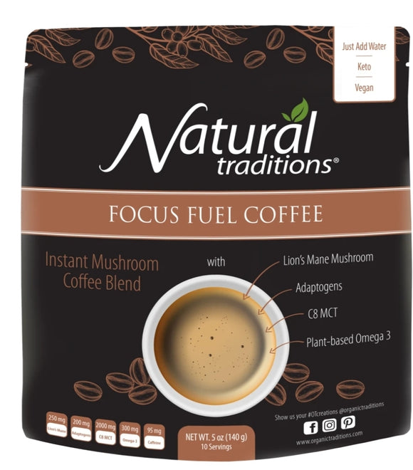 Organic Focus Fuel Mushroom Coffee Blend 140g