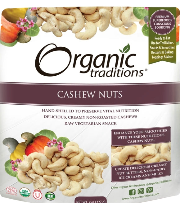 Organic Raw Cashew Nuts 227g