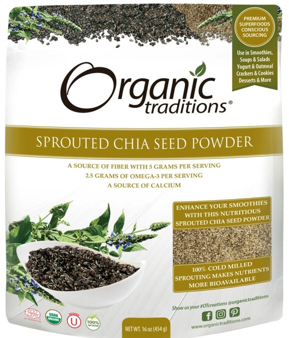 Organic Sprouted Chia Seeds 454g