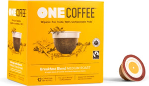 One Coffee Organic Breakfast Blend Medium Roast Coffee 12pk Keurig
