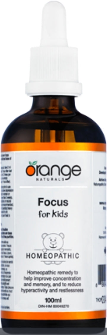 Orange Naturals Focus for Kids Homeopathic 100ml