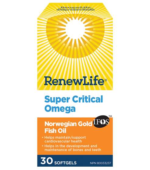 RenewLife Norwegian Gold Super Critical Omega Fish Oil